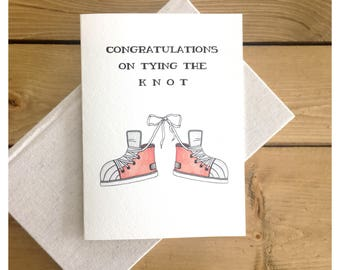 WEDDING CARD // funny wedding card, gender neutral wedding card, tying the knot, congratulations card, greeting card, cute card, pun, punny