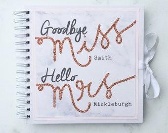 Hen Memory Book, Hen Scrapbook, Miss to Mrs, Hen Album, Hen Party Book, Hen Photo Album
