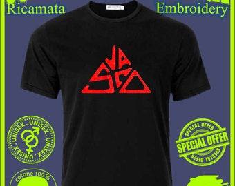 Vasco Rossi embroidered black t-shirt t-shirt tshirt shirt embroidered shirt