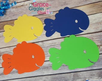 10 large (5 inch) Fish Die Cuts