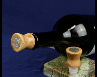 Buffalo Wine Stoppers, US coin stocking stuffer gift, handmade wine stopper, buffalo coin gift, bottle stopper, tableware, CS021