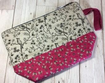 Zippered project bag - Beautiful Birds
