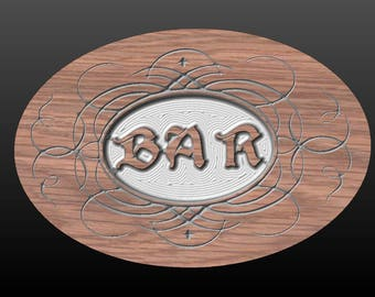 Bar Sign for Home or Business - Carved in Poplar or Oak