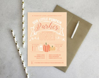PRINTABLE Birthday Party Invitation | Little Pumpkin