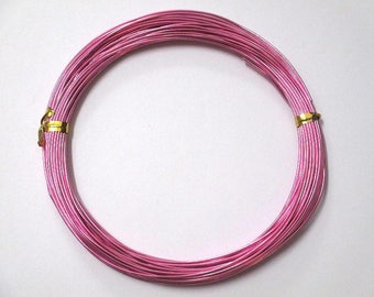 10 meters wire Aluminum Pink 1 mm reel