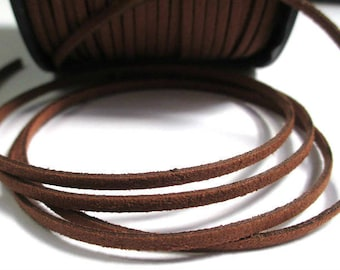 brown suede 3 mm suede cord 3 m