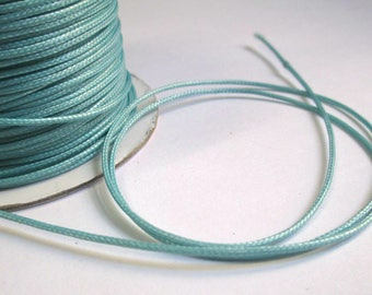 5 m thread cord icy blue polyester waxed 1 mm
