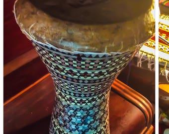 Large Egyptian Wooden Tabla Drum