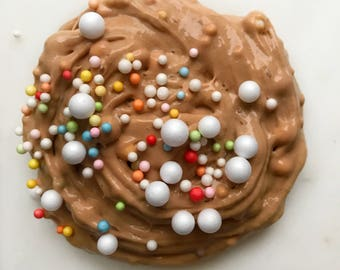 Hot Cocoa Slime with Marshmallows and Sprinkles - Milk Chocolate scented