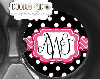 Polka Dot Car Coaster, Monogram Gift, Personalized Car Coasters