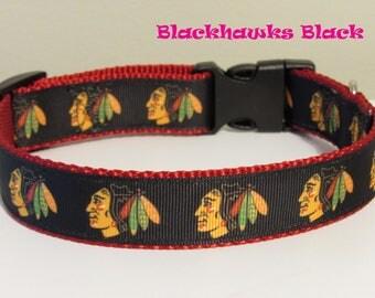 Blackhawks Black Dog Collar