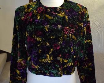 Gina Bacconi multi coloured evening jacket, 1980s, UK size 18