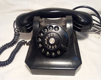 Vintage Black Bakelite Phone