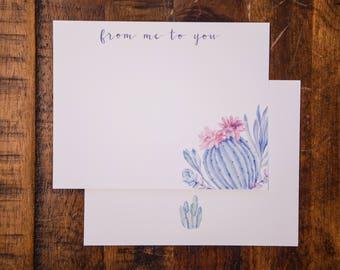 Succulents Flat Note Card Set