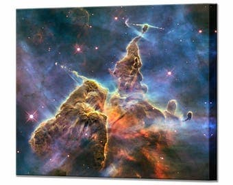 Mystic Mountain in the Carina Nebula Hubble Telescope Canvas Space Wall Art Print in 5 Sizes Ready To Hang Decor