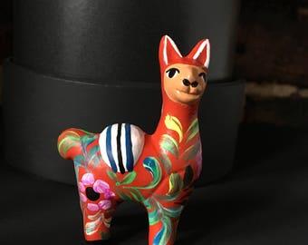 Llama  Ornament, Hand painted ceramic alpaca, Llama ornament perfect for birthday or Christmas present