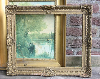 Vintage Ornate Wooden Open Frame, Gilded Frame, Shabby Shic Wall Decor
