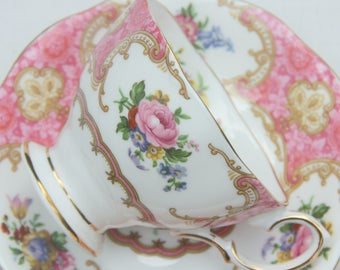 Vintage Royal Albert 'Lady Carlyle'  Lady Size Cup and Saucer, England