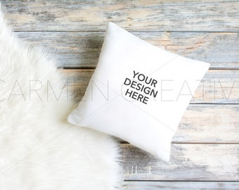 White Pillow Mockup / Stock Photography /Product Background