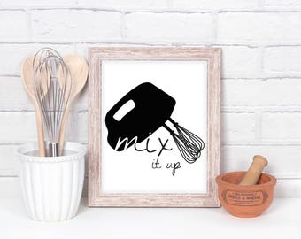 "Mixer ""Mix It Up"" Wall Decor Print"
