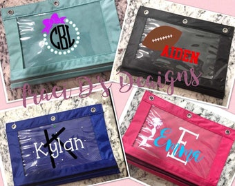 Personalized pencil Pouches