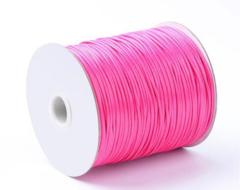 Pink 1.5 mm waxed polyester cord