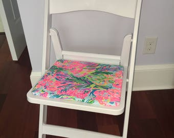 College Dorm Chair Lilly Pulitzer Fan Sea Pants