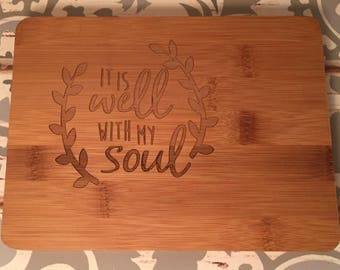 Small Etched Cutting Board