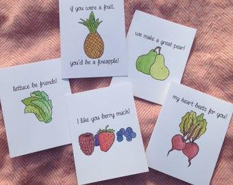 FRUIT PUNZ Set of 3 Greeting Cards