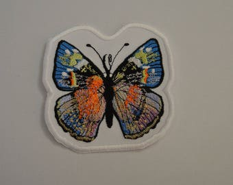 embroidered with butterfly