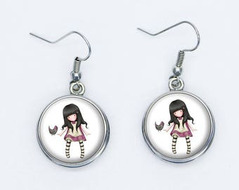 Doll gorjuss bird earrings