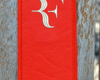 RF leather bookmark
