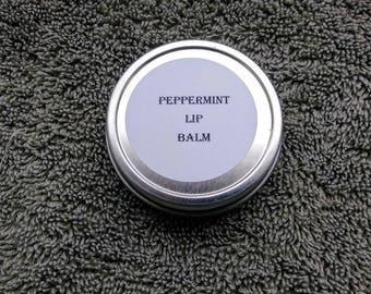 Peppermint lip balm