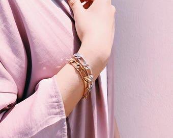Chunky bracelets set