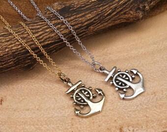 Anchor Necklace, Nautical Necklace, Sailor Necklace, Minimalist Necklace, Gold Necklace, Everyday Necklace, Simple Necklace BN997-2
