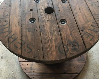 SOLD: Repurposed Cable Spool Table