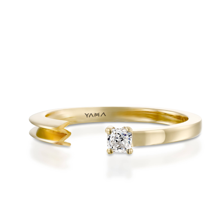 Personalized Diamond Ring Diamond Letter Ring Diamond Initial Ring