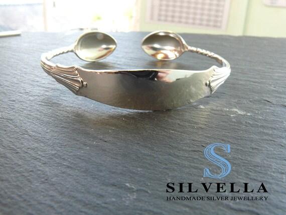 Antique Sold Silver Sugar Tong Cuff - Hallmarked Birmgham 1891 - Sterling Silver Cuff -