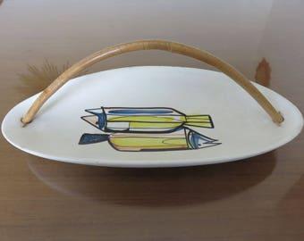 rare authentic dish empty Pocket ROGER CAPRON VALLAURIS France 1950 1960 50's 60's mid century vintage ceramic french ceramic