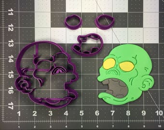 Zombie Face 103 Cookie Cutter Set