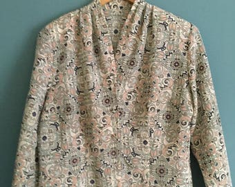 Vintage 80s St Michael patterned blouse| perfect condition!! Size UK 18