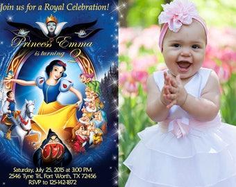 Snow White Invitation, Snow White Birthday, Snow White Party