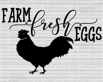 Farm Fresh Eggs SVG, Country SVG, Country Life Svg, Farm Svg, Country Kitchen Svg, Farm Life svg, Country svg File, Chicken Svg, Eggs Svg