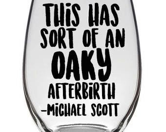 The Office, Michael Scott Wine Glass