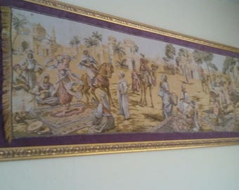 Middle eastern matteed tapestry