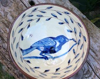 Breakfast Bowl, Bowl, Slipware, Bird Design