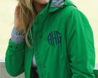 Women's Rain Jacket-Women's Logan Rain Jacket, Rain Wear, Rainy Days, Monogrammed Jacket, Personalized Jacket, Monogram