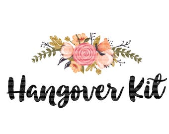 Hangover Kit Clipart, Sublimation Designs, Wedding Party Clipart, Clipart Graphics, Commercial Use Clipart, Digital Scrapbooking
