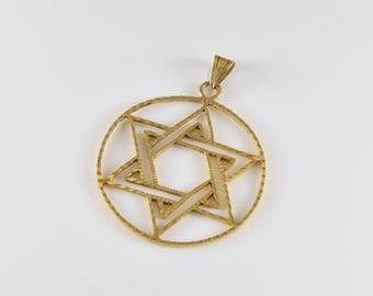 The Star of David 14K Gold Pendant
