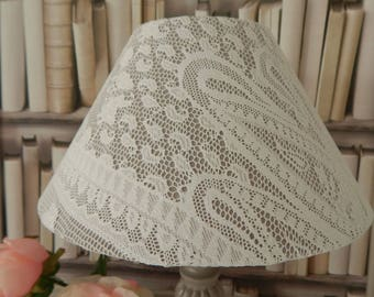 WHITE LACE LAMPSHADE